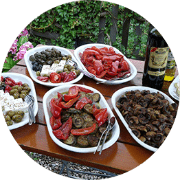 Heerlijk eten bedrijfsuitje